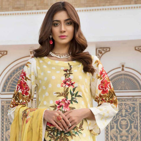 Noor Jahan Embroidered Lawn 3 Piece Un-Stitched Suit Vol RQ-219 - D 07 - test-store-for-chase-value