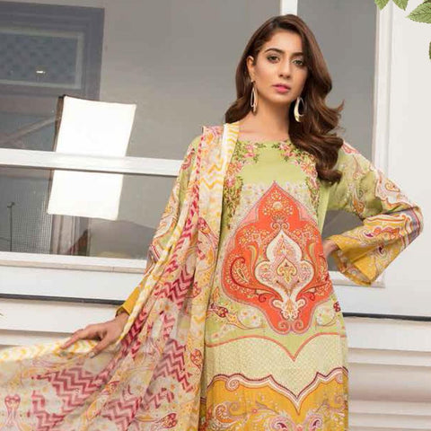 Noor Jahan Embroidered Lawn 3 Piece Un-Stitched Suit Vol RQ-219 - D 10 - test-store-for-chase-value