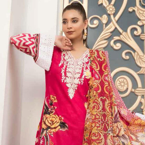 Noor Jahan Embroidered Lawn 3 Piece Un-Stitched Suit Vol RQ-219 - D 13 - test-store-for-chase-value