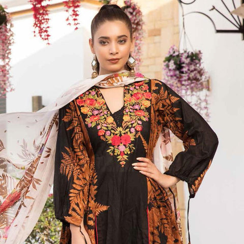 Noor Jahan Embroidered Lawn 3 Piece Un-Stitched Suit Vol RQ-219 - D 14 - test-store-for-chase-value