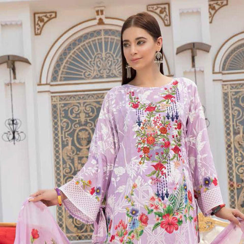 Noor Jahan Embroidered Lawn 3 Piece Un-Stitched Suit Vol RQ-219 - D 19 - test-store-for-chase-value