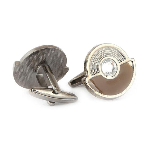 Men's Cufflinks - Light Brown - test-store-for-chase-value