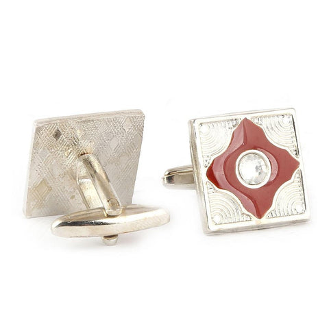 Men's Cufflinks - Maroon - test-store-for-chase-value