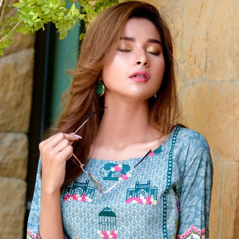 Ayesha Chottani Embroidered Lawn 3 Piece Un-Stitched Suit - 1 B - test-store-for-chase-value