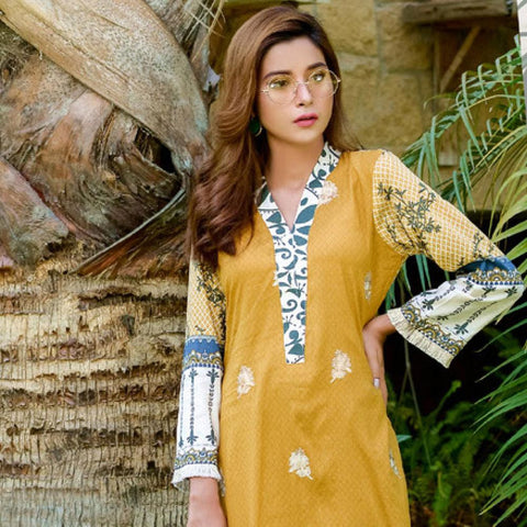 Ayesha Chottani Embroidered Lawn 3 Piece Un-Stitched Suit - 2 B - test-store-for-chase-value