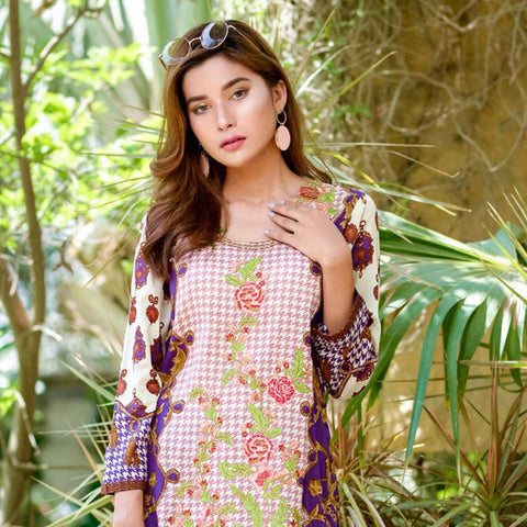 Ayesha Chottani Embroidered Lawn 3 Piece Un-Stitched Suit - 3 B - test-store-for-chase-value