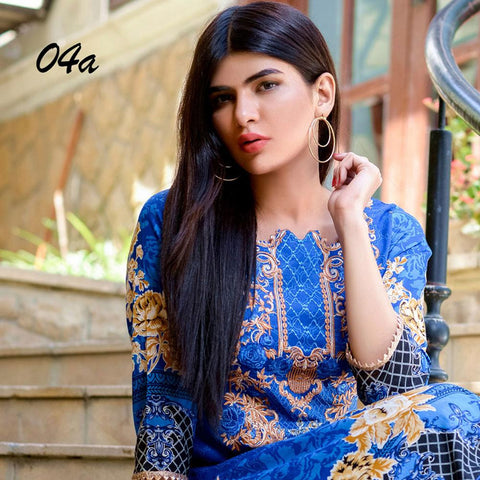 Ayesha Chottani Embroidered Lawn 3 Piece Un-Stitched Suit - 4 A - test-store-for-chase-value