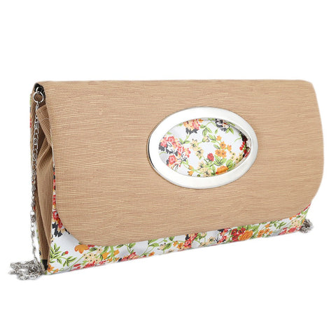 Women's Fancy Clutch 9071 - Beige - test-store-for-chase-value