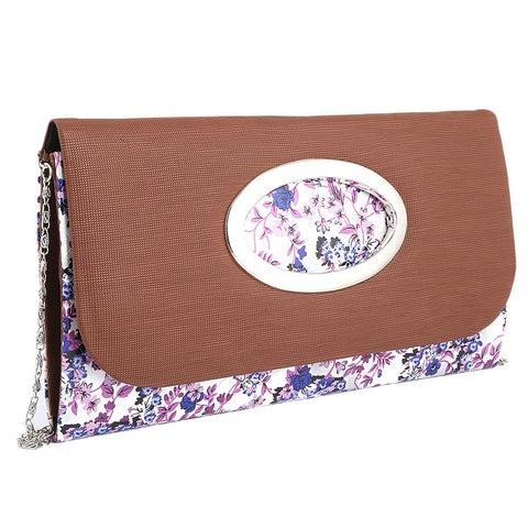 Women's Fancy Clutch 9071 - Brown - test-store-for-chase-value