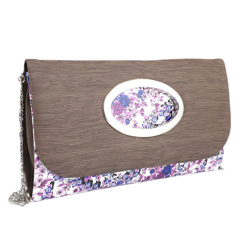 Women's Fancy Clutch 9071 - Dark Brown - test-store-for-chase-value