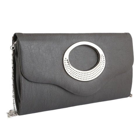 Women's Fancy Clutch 9074 - Black - test-store-for-chase-value