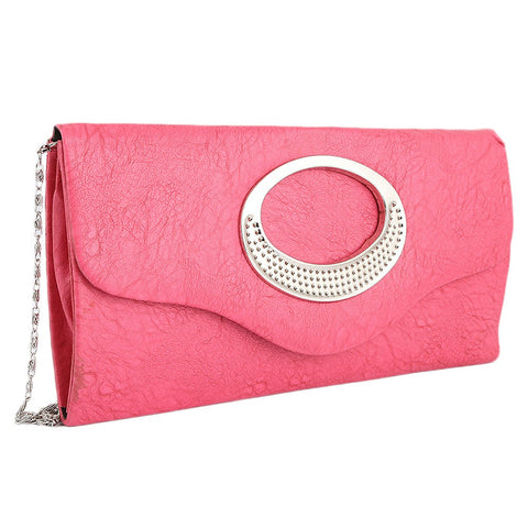 Women's Fancy Clutch 9074 - Pink - test-store-for-chase-value