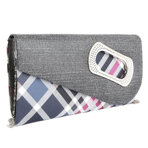 Women's Fancy Clutch 9074 - Dark Grey - test-store-for-chase-value