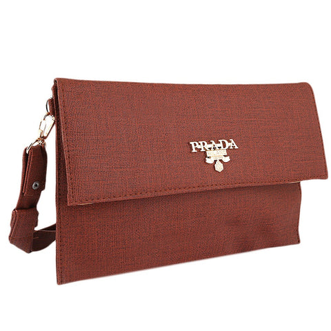 Women's Fancy Clutch 2257 - Dark Brown - test-store-for-chase-value