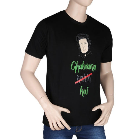 Imran Khan T-Shirt - Black - test-store-for-chase-value