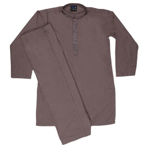 Boys Shalwar Qameez Suit - Grey - test-store-for-chase-value