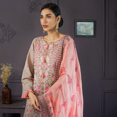 Kalyan Festive Designer Embroidered Lawn 3 Piece Un-Stitched Suit Vol 2 - 8 - test-store-for-chase-value