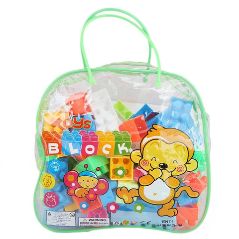 Building Blocks Toy Bag 72 Pcs - Green - test-store-for-chase-value