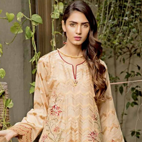 Rana Arts Ayesha Luxury Embroidered Lawn 3 Piece Un-Stitched Suit - EKR-1208 B - test-store-for-chase-value