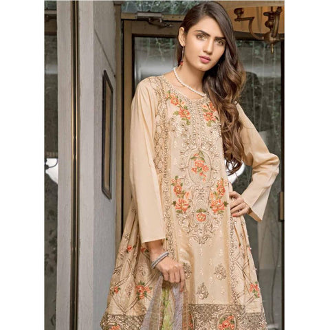Rana Arts Ayesha Luxury Embroidered Lawn 3 Piece Un-Stitched Suit - AY-1228 A - test-store-for-chase-value