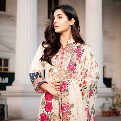 Royal Legacy Embroidered Lawn 3 Piece Un-Stitched Suit - 4447 A - test-store-for-chase-value