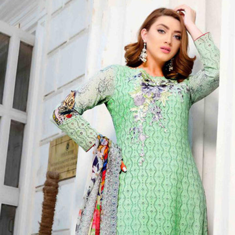 Royal Legacy Embroidered Lawn 3 Piece Un-Stitched Suit - 4451 A - test-store-for-chase-value