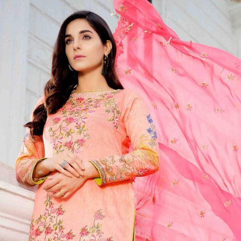 Royal Legacy Embroidered Lawn 3 Piece Un-Stitched Suit - 4452 A - test-store-for-chase-value