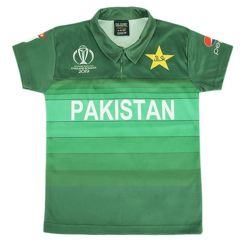 Pakistan Cricket World Cup T-Shirt For Boys - test-store-for-chase-value
