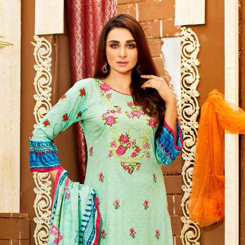 8751bf71dc Amna Sohail Imperial Reflections Embroidered Lawn 3 Piece Un-Stitched Suit  - 4591 A