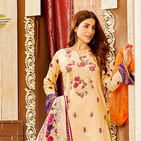 d0fb382ac9 Amna Sohail Imperial Reflections Embroidered Lawn 3 Piece Un-Stitched Suit  - 4591 B