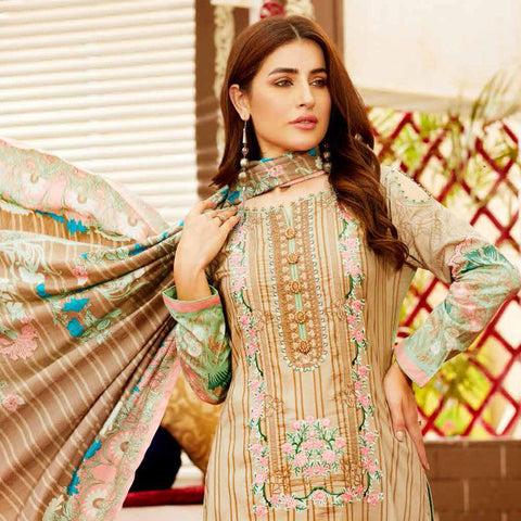 24beae42a5 Amna Sohail Imperial Reflections Embroidered Lawn 3 Piece Un-Stitched Suit  - 4594 B