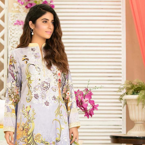 Iraar Luxurious Pearl Collection Embroidered Lawn 3 Piece Un-Stitched Suit - 1 - test-store-for-chase-value