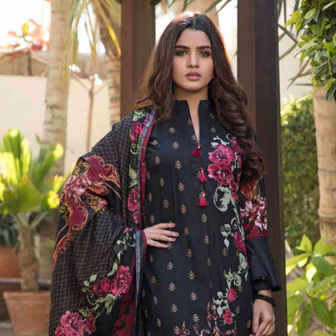 BS Printed Lawn Collection 3 Piece Un-Stitched Suit - 2 - test-store-for-chase-value