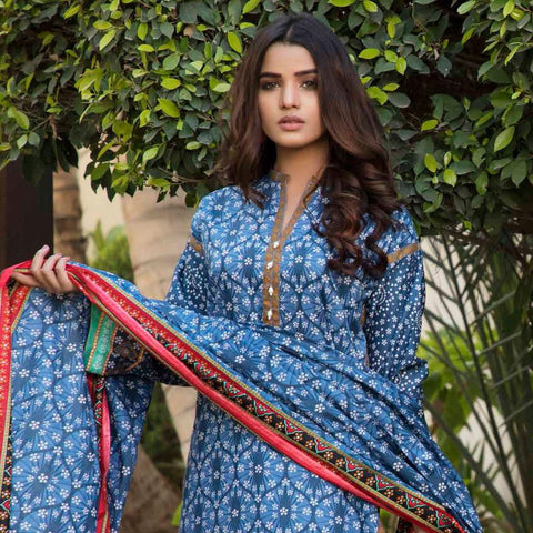 BS Printed Lawn Collection 3 Piece Un-Stitched Suit - 3 - test-store-for-chase-value