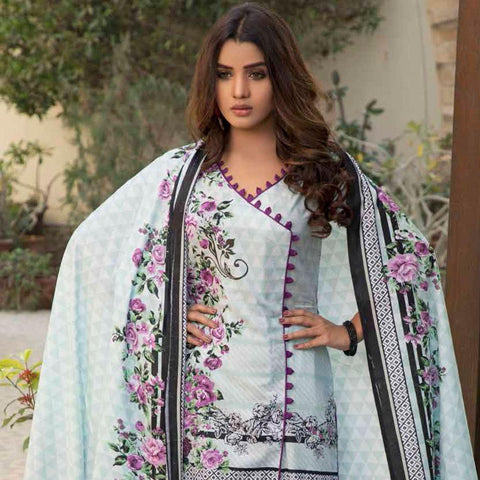 BS Printed Lawn Collection 3 Piece Un-Stitched Suit - 4 - test-store-for-chase-value