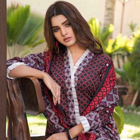 BS Printed Lawn Collection 3 Piece Un-Stitched Suit - 5 - test-store-for-chase-value