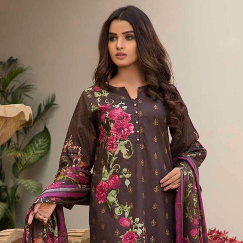 BS Printed Lawn Collection 3 Piece Un-Stitched Suit - 7 - test-store-for-chase-value