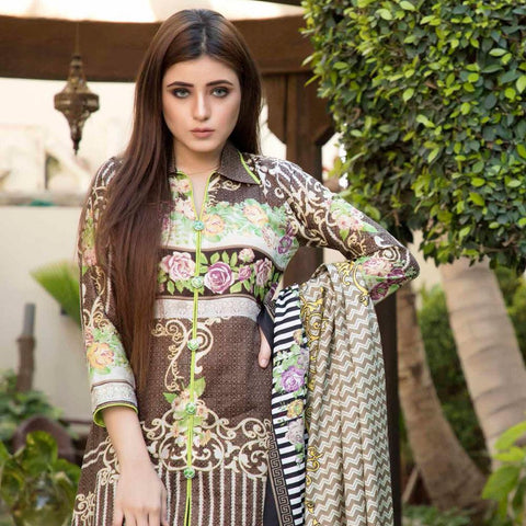 BS Printed Lawn Collection 3 Piece Un-Stitched Suit - 8 - test-store-for-chase-value