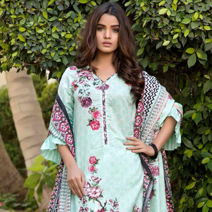 BS Printed Lawn Collection 3 Piece Un-Stitched Suit - 10 - test-store-for-chase-value