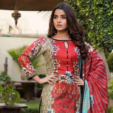 BS Printed Lawn Collection 3 Piece Un-Stitched Suit - 11 - test-store-for-chase-value