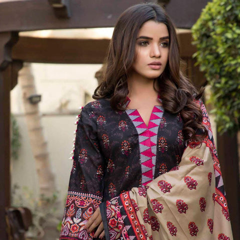 BS Printed Lawn Collection 3 Piece Un-Stitched Suit - 12 - test-store-for-chase-value