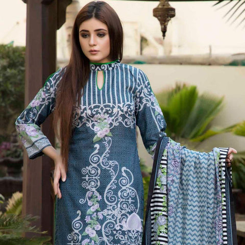 BS Printed Lawn Collection 3 Piece Un-Stitched Suit - 15 - test-store-for-chase-value