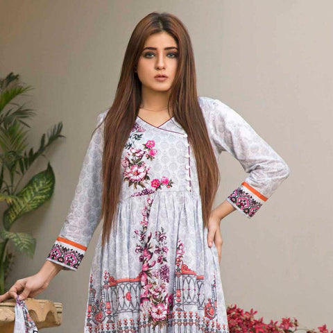 BS Printed Lawn Collection 3 Piece Un-Stitched Suit - 16 - test-store-for-chase-value
