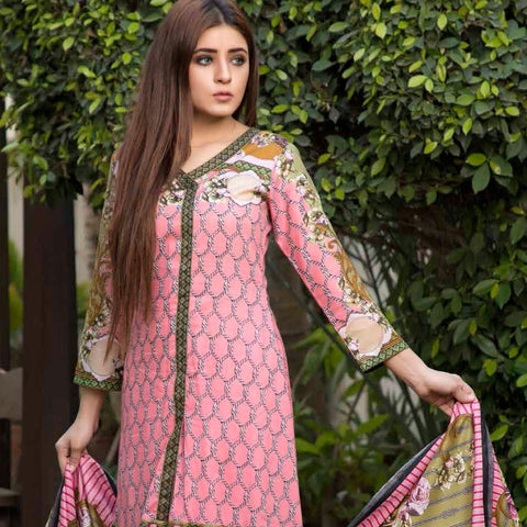 BS Printed Lawn Collection 3 Piece Un-Stitched Suit - 19 - test-store-for-chase-value