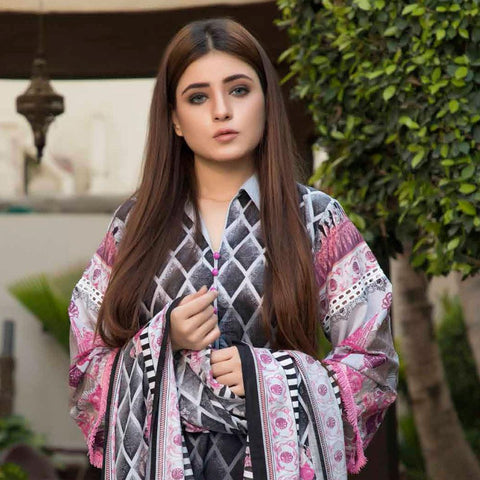 BS Printed Lawn Collection 3 Piece Un-Stitched Suit - 20 - test-store-for-chase-value
