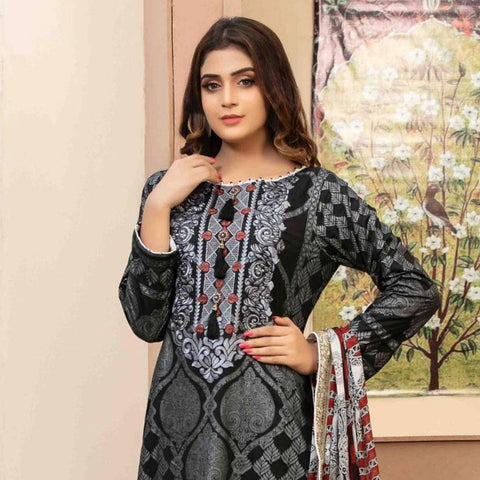 f36bbfc2c4 Amna Sohail Pure Decadence Embroidered Lawn 3 Piece Un-Stitched Suit - 4551  B