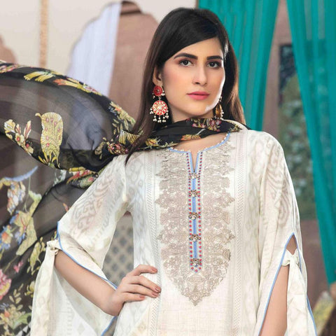 15a48829b3 Amna Sohail Pure Decadence Embroidered Lawn 3 Piece Un-Stitched Suit - 4553  A
