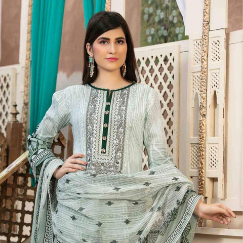 b69cb66a1e Amna Sohail Pure Decadence Embroidered Lawn 3 Piece Un-Stitched Suit - 4555  A