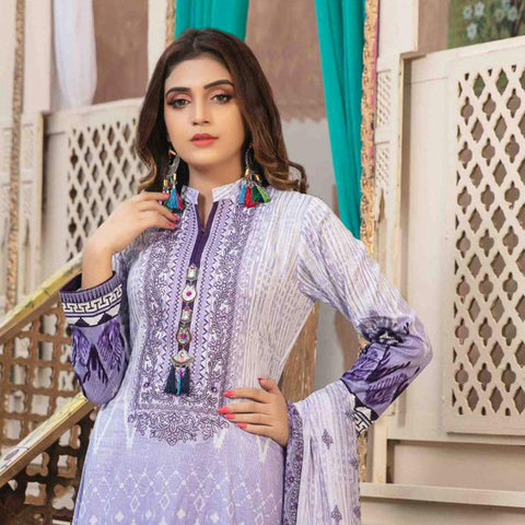 245c13e995 Amna Sohail Pure Decadence Embroidered Lawn 3 Piece Un-Stitched Suit - 4555  B