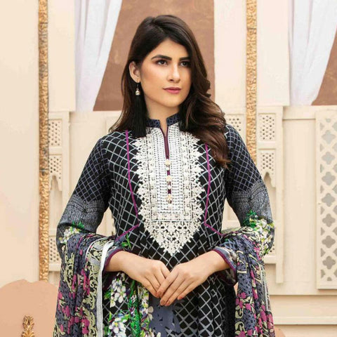 906c2dff9e Amna Sohail Pure Decadence Embroidered Lawn 3 Piece Un-Stitched Suit - 4554  A